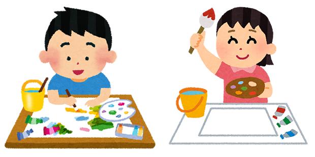 絵画教室のイラスト